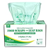 ProGreen 100% Compostable Bags 3 Gallon, Extra