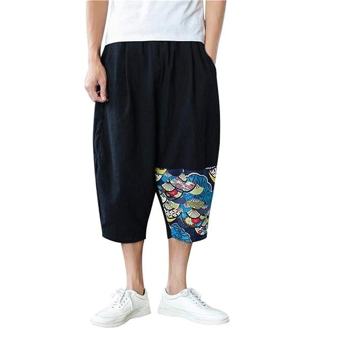9ea3193377 Image Unavailable. Image not available for. Color: Men Cotton Linen Pants  ...