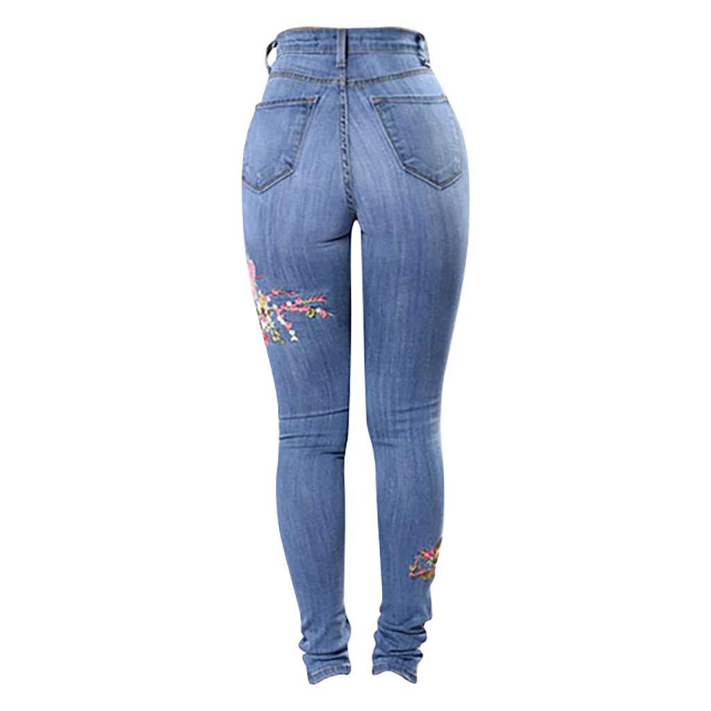 Luckycat Mujer Pantalones Vaqueros Cintura Alta Jeans de ...