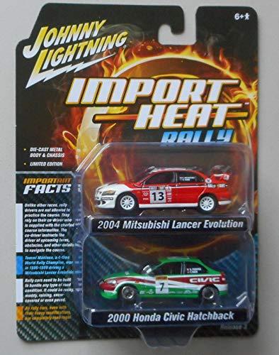 "2004 Mitsubishi Evolution Rally #13""Ralliart & 2000 #7""Lonestar 2pc Set 1/64 Diecast by Johnny Lightning JLPK006-RALLY"