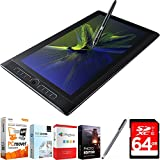 Wacom MobileStudio Pro 16' Tablet i7 512GB SSD, Windows 10, NVIDIA M1000M (DTH-W1620H) with Elite Suite 18 Standard Editing Software Bundle, Bamboo Solo Stylus for Tablets and Smartphones & 64GB Memor