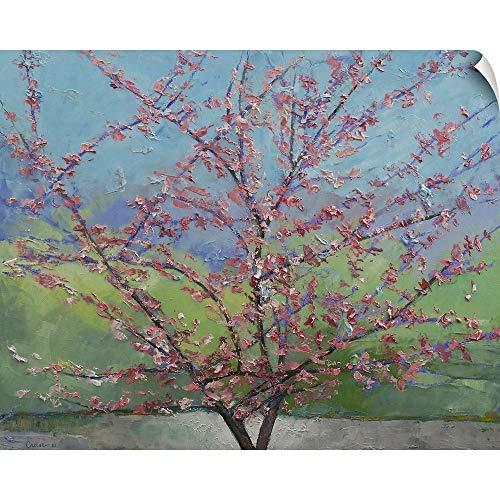 (CANVAS ON DEMAND Eastern Redbud Tree Wall Peel Art Print, 36
