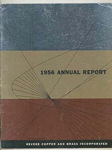 1956 Revere Copper and Brass Incorporated Annual Report Brochure - Revere Copper Brass