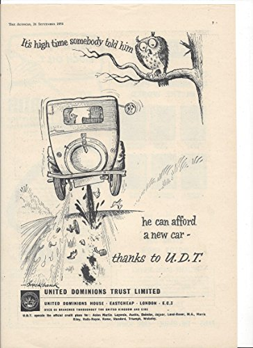 Vintage Illustrated Print Ad   For 1958 United Dominion Trust Insurance   Print Ad