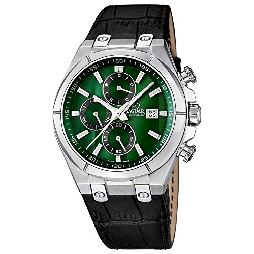 Jaguar j667/3 - Reloj de caballero, caja acero, multifuncion, correa en piel: Jaguar: Amazon.es: Relojes