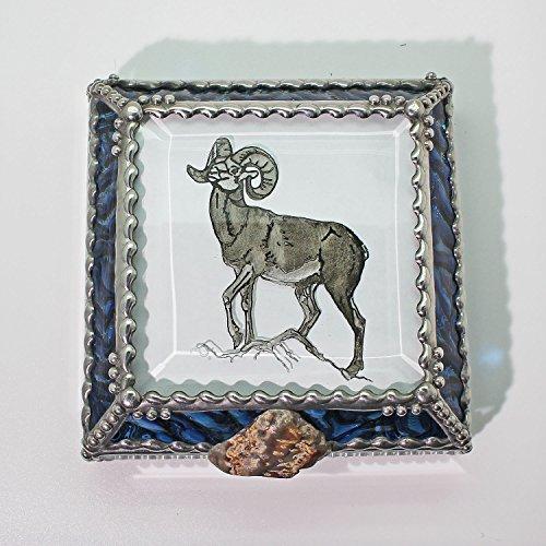 Mountain Sheep Jewelry Box by Glass Treasure Box