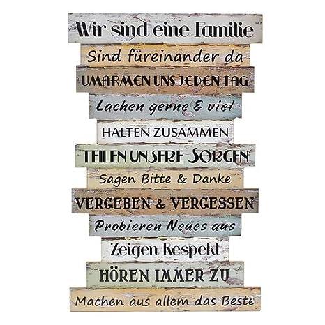 Zeigen Respekt Hören zu.... füreinander da Schild Family Höhe 32 Familie
