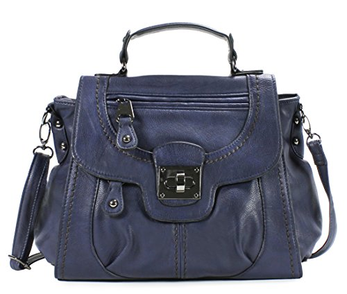 Scarleton Women's Vintage Messenger Bag H124207 - Blue