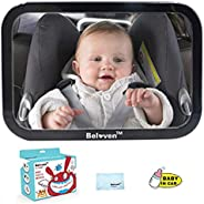 Baby Car Mirror for Back Seat, Clear Rearing Facing Mirror, 360 Degree Adjustable Wide Convex Shatterproof Gla