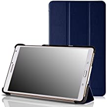 MoKo Ultra Slim Lightweight Smart-shell Stand Case for Samsung Galaxy Tab S 8.4 Inch Android Tablet, INDIGO (Will NOT Fit tab pro 8.4) (With Smart Cover Auto Wake / Sleep)