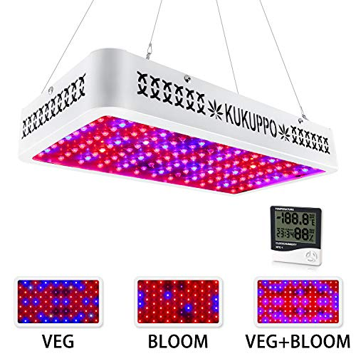 LED Grow Light, 1200W Full Spectrum Grow Light with UV&IR for Indoor Plants, Plant Light with Veg and Bloom Switch, Growing Lamp with Daisy Chain Function for Greenhouse, Hydroponics, Seedlings