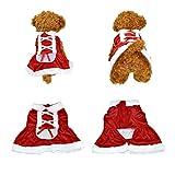 Yoption Dog Puppy Pet Christmas Skirt Santa Claus Dress Costume Dog Outwear Coat Apparel (XXS)
