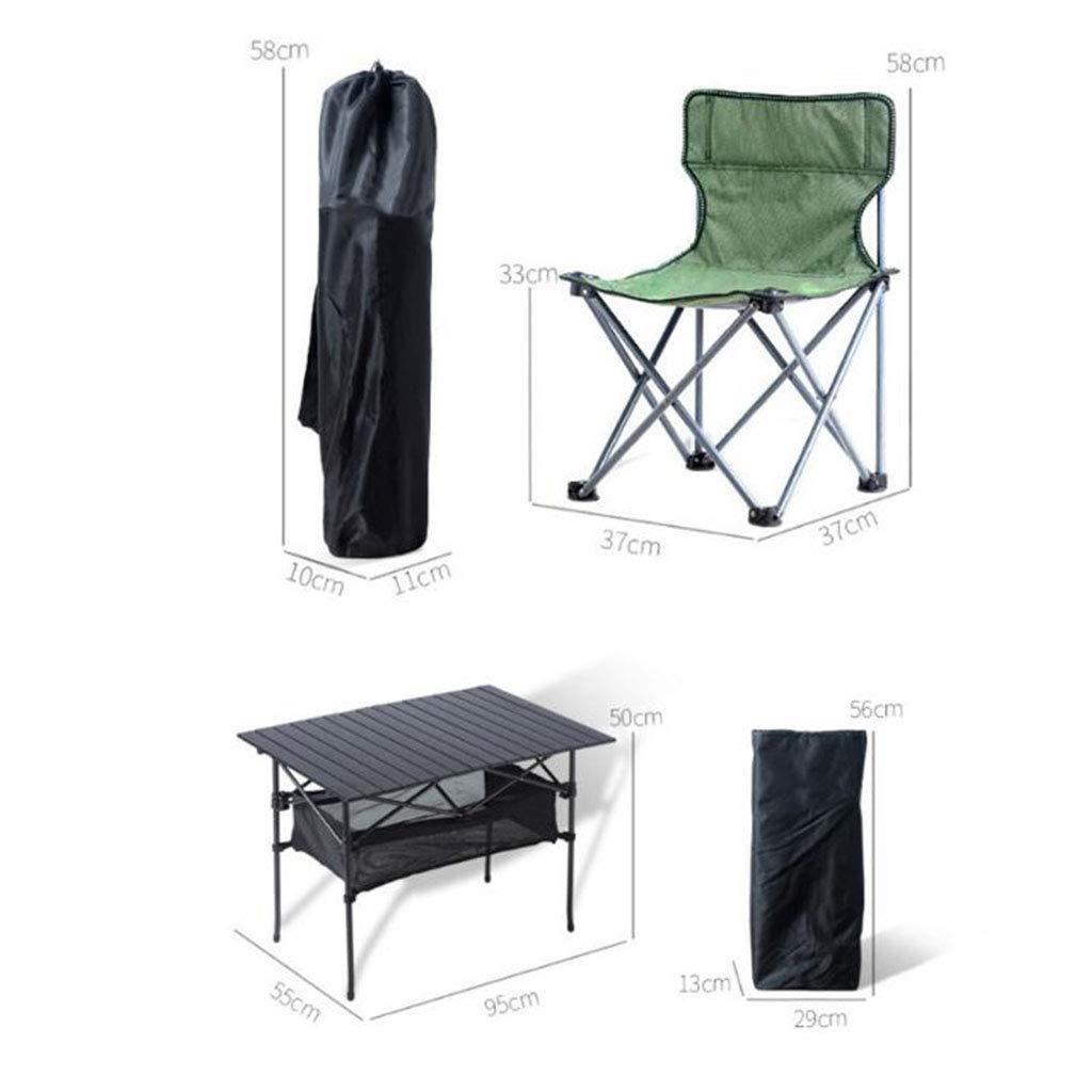 Mesa para Acampar Plegable para 6 Personas, Juego De Mesa Y ...