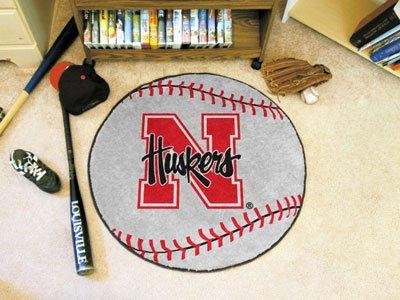 Fanmats Baseball Floor Mat - University of Nebraska