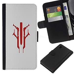 JackGot ( Guerra de las Galaxias ) Sony Xperia Z1 L39 la tarjeta de Crédito Slots PU Funda de cuero Monedero caso cubierta de piel