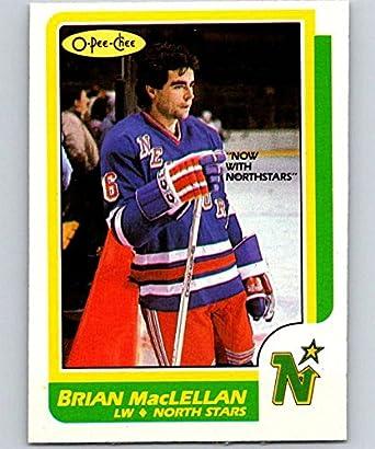 51bbfcc5c7a5 Amazon.com  1986-87 O-Pee-Chee  33 Brian MacLellan North Stars NHL ...