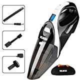 WELIKERA 12V 100W Handheld Vacuum, Powerful Portable Pet Hair Vacuum, Rechargeable Vacuum Cleaner with Stainless Steel Filter, with A Carrying Bag, Black