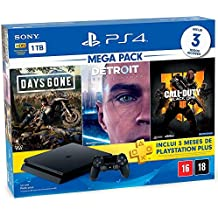 Console Playstation 4 1TB Hits Bundle 5.1 - Days Gone + Detroit Become Human + Call Of Duty Black Ops 4 - PlayStation 4 (versão nacional)