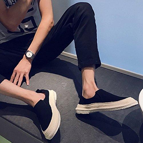 da Estate stile Scarpe Espadrillas Color pedale da 44 basse YaNanHome scarpe coreano Size di tendenza pescatore da Blue uomo Black maschio scarpe traspirante tela in calcio scarpe XwRxdq