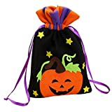 La Vogue Halloween Party Trick-or-Treat Goodie Candy Sweet Gift Tote Bag, Pumpkin, 5.9″ X 10.2″