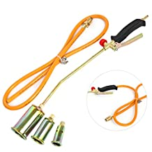YaeTek Portable Propane Weed Torch Burner Fire Starter Ice Melter Melting w/Nozzles