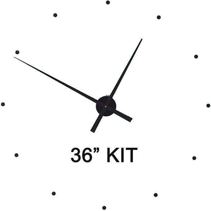 "Amazon.com: Make Large 36"" Wall Clock w/ 17.5"" Hands: Home & Kitchen"