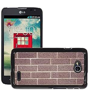 Etui Housse Coque de Protection Cover Rigide pour // M00152861 Ladrillos Pared de ladrillo telón de // LG Optimus L70 MS323