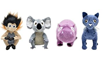 "Wild Kratts Wild Life 6"" Plush Animal Assortment, Set of 4: Grabsey,"