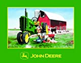 "John Deere 48"" x 60""  Heavy Fleece Blanket - Clean & Shiny Theme"