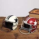 Retro American football cap furnishing articles Photo Props helmets Model furniture Windows ( Size : Red )