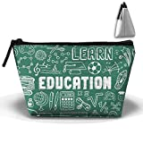 Bing4Bing Oxford Fabric Education And Learning Doodles With School Trapezoid Receive Bag,Sewing Kit Cartridge Bag Cosmetic Bag Storage Bag