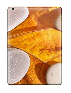 First-class Case Cover For Ipad Air Dual Protection Cover Stones On A Dry Leaf