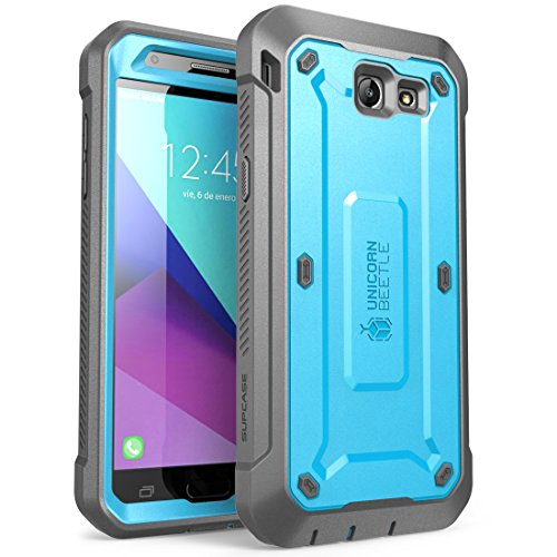 V Series Mobile (Samsung Galaxy J7 2017 Case, SUPCASE Unicorn Beetle Pro Series Full-body Rugged Holster Case with Built-in Screen Protector for Galaxy J7 2017/J7 V/J7 Sky Pro/J7 Perx/J7V 2017/J7 Prime (Blue))