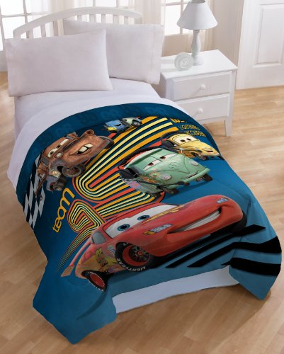 Disney Pixar Cars Fabric - Disney/Pixar Cars Movie Twin Microfiber Comforter and Sham