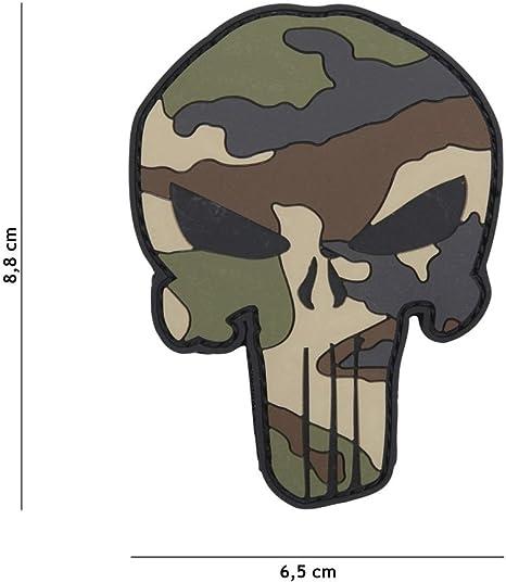 Parche 3D de PVC, de Punisher de camuflaje, para disfraz, airsoft ...