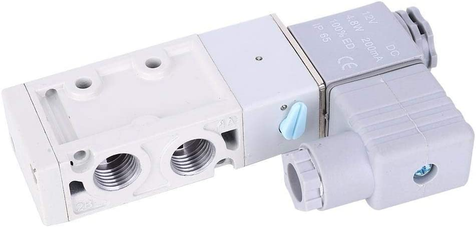 DC12V Beennex 5-Way Solenoid Valve Aluminum Alloy Shell MVSC260-4E1 G1//4in for Various Pneumatic Systems