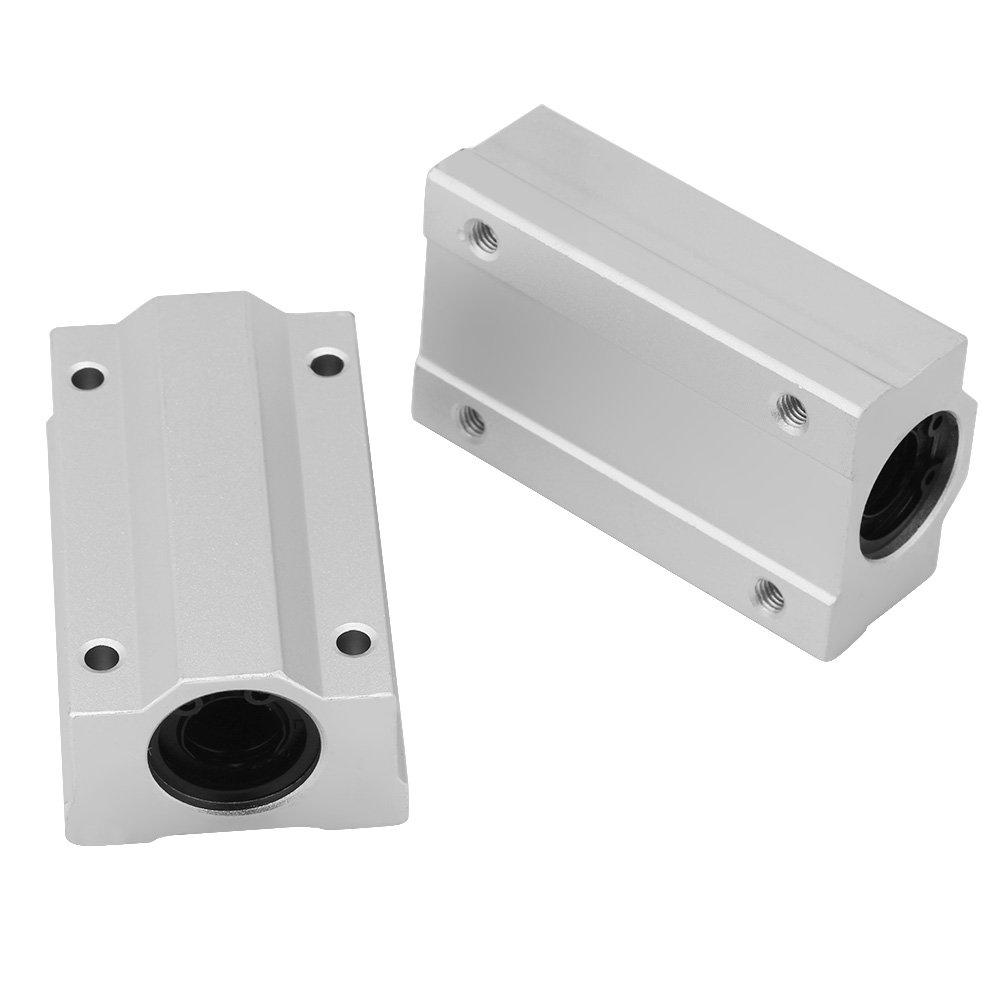 2Pcs 12mm SCS12LUU Aluminio Bloque de deslizamiento de rodamientos de bolas de movimiento lineal para CNC Unidad de deslizamiento de rodamientos de bolas de movimiento lineal