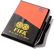 Powerwin Soccer Referee Red Card Football Yellow Card with Wallet Pencil Record Paper for FIFA Judge Fluoresce