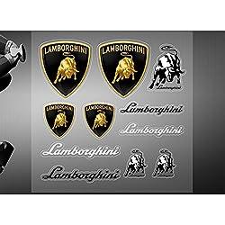Encell PVC Car Sticker Decal Emblem Badge For Lamborghini