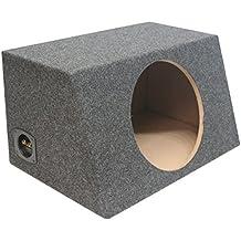 "ASC Single 12"" Subwoofer Sealed Universal Fit Angled Hatch Sub Box Speaker Enclosure"