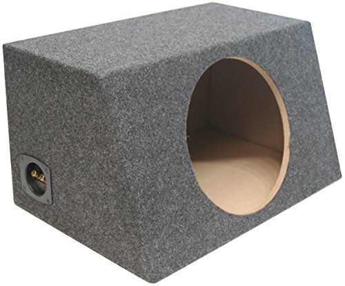 ASC Single 12″ Subwoofer Sealed Universal Fit Angled Hatch Sub Box Speaker Enclosure