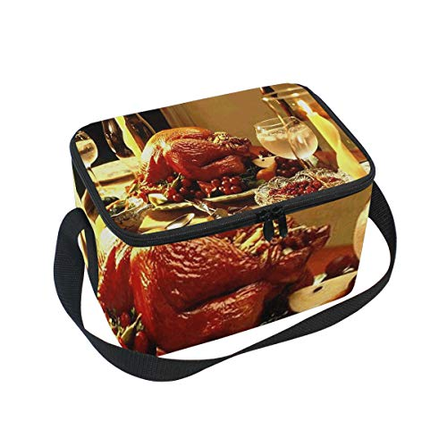 iving Card Insulated Lunch Bag Tote Bag Cooler Lunchbox for Picnic School Women Men Kids ()