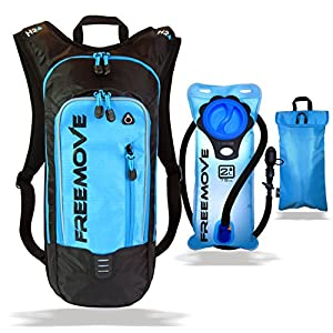 No.1 Hydration Pack Backpack with 2L Water Bladder & Cooler Bag KEEPS WATER COOL   Lightweight Comfy Leak Proof   Air Flow System   Reflective Parts   6L Capacity   Camel Pack For Sports Enthusiast