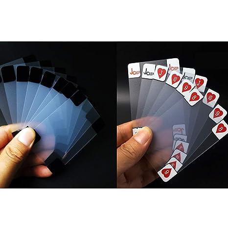 YYBF Cartas Poker, Transparente Plástico Poker PVC, Baraja ...