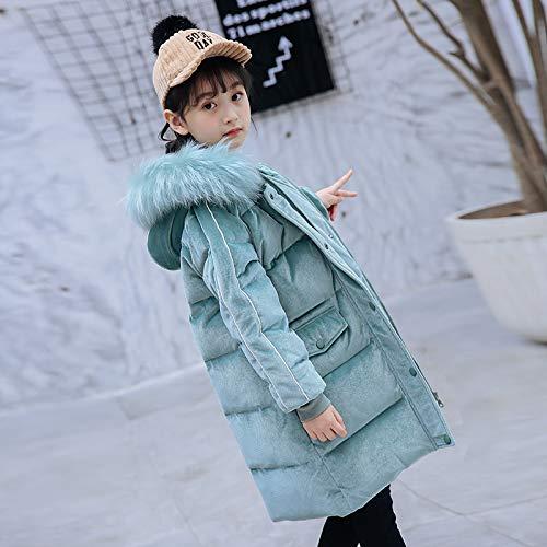 FDSAD Warme Jacke Im Freien Kinder Outdoor Warme Jacke Mädchen Langen Abschnitt Neue Kinderbekleidung Mädchen Wintermantel Geeignet Für Die Höhe 130Cm Grün