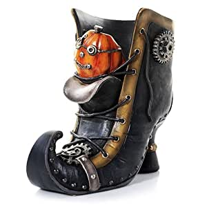 yankee candle steam punkin boot jar holder. Black Bedroom Furniture Sets. Home Design Ideas