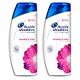 Head and Shoulders Smooth and Silky Anti-Dandruff Shampoo 23.7 Fl Oz (Pack of 2) (Health and Beauty)