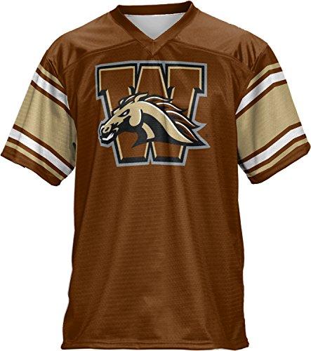 Men's Western Michigan University End Zone Football Fan Jersey (Western Michigan University Football)