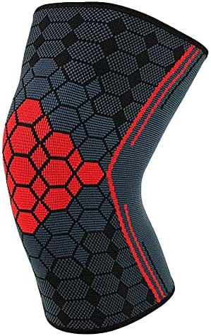 Knee Brace Support Compression Sleeves, 1 Pair Registered Wraps Pads for Arthritis, ACL, Running, Pain Relief, Injury Recovery, Basketball and More Sports DMZ
