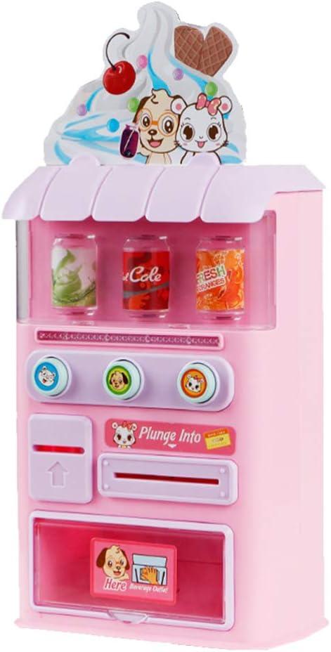 Toyvian Niños pretenden playset Mini máquina expendedora con Juguete de Sonido Ligero Juego de rol de Juguete para niños pequeños niños niñas Regalos de Fiesta
